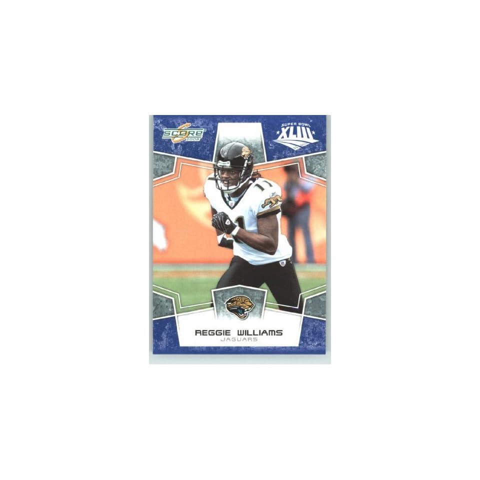 2008 Donruss / Score Limited Edition Super Bowl XLIII Blue Border # 143 Reggie Williams   Jacksonville Jaguars   NFL Trading Card in a Prorective Screw Down Display Case