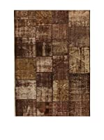Design Community By Loomier Alfombra Anatolian Patchwork Marrón 140 x 200 cm