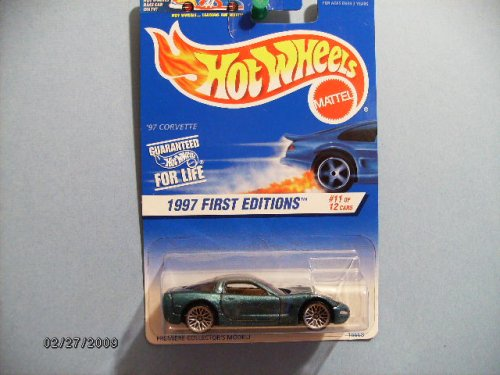 Hot Wheels 1997 First Editions Series (#11 of 12) '97 Corvette Collector Car #515 - 1