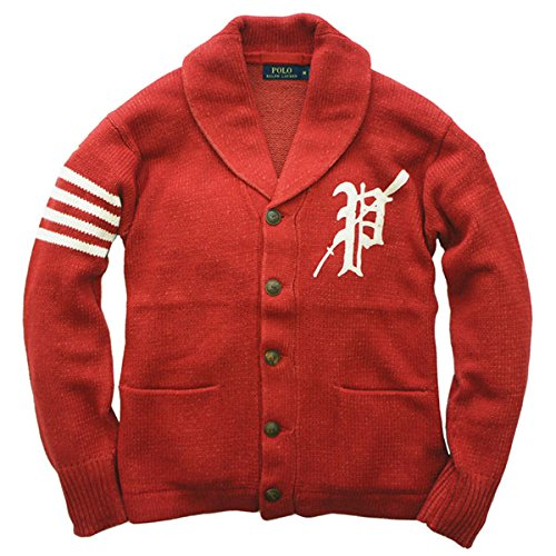 (ポロ ラルフローレン) Polo Ralph Lauren 《Collegiate Shawl Cardigan:カレッジ ショールカラー ニット セーター カーディガン<Red Plaited> 》 [並行輸入品]
