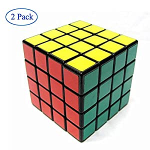 Finegood Shengshou 4x4x4 Puzzle Cube Black (2 pack) with cube bag
