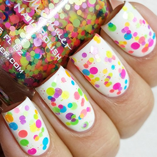 Upside Round - 0.5 oz Full Sized Bottle (Multi Colored Nail Polish compare prices)