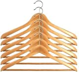 6PCS WOODEN CLOTHES HANGER