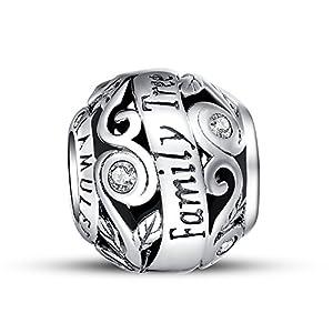 "Glamulet ""Family Tree Openwork"" Charm Premium 925 Sterling Silver Fits Pandora Bracelet"