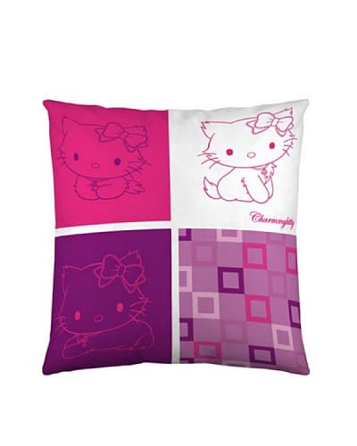 Euromoda Copricuscino Charmmy Kitty Squares [Rosa/Rosso]