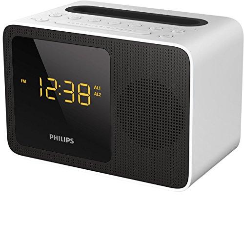 Philips ajt5300W/12Radio Sveglia (Bluetooth, FM, USB stazione di ricarica) bianco/nero