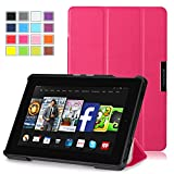 Kindle Fire HD 7 Case 2014 (4th Generation) - Pasonomi® Ultra Slim Lightweight Smart-shell Cover Case for Amazon Kindle Fire HD 7 inch 2014 Tablet With Auto Wake / Sleep Function (Hot Pink)