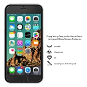 iPhone 6S Glass Screen Protector, Kroma™ [Krystalin Series] World's Thinnest Ballistic Glass, 99.9% Touch-screen Accuracy, Ultimate Protection from Bumps, Drops, and Scrapes (Lifetime Warranty)