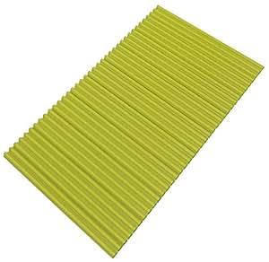 東プレ 抗菌タイプ シャッター式風呂ふた カラーイージーウェーブ 70×120cm グリーン M12