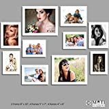 "10 Pc White Photo Frame Wall Collage, 2Pc 8"" X 10"", 4Pc 5"" X 7"", 4Pc 4"" X 6"""