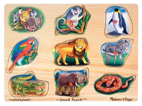 Cheap Melissa & Doug Zoo Sounds Animals Wooden Puzzle by Melissa and Doug (B001U2COVU)