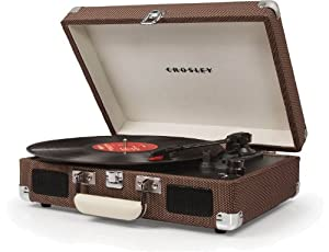 Crosley CR8005A-TW Cruiser Portable 3-Speed Turntable (Tweed)