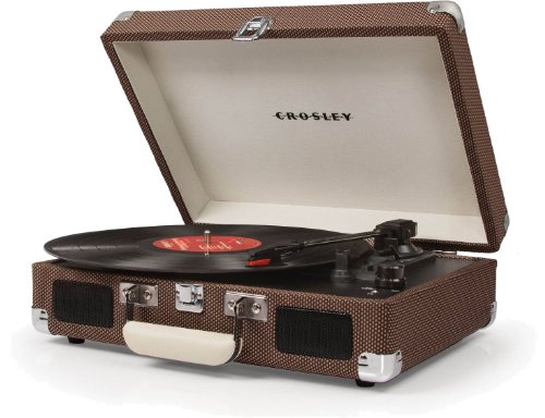 Big Save! Crosley CR8005A-TW Cruiser Portable 3-Speed Turntable (Tweed)