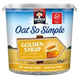 Quaker Oats Oat So Simple Pot Golden Syrup Flavour 57g (Pack of 8)