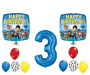 Amazon.com: PAW Patrol 3rd Happy Birthday Balloon Decoration Kit: Toys