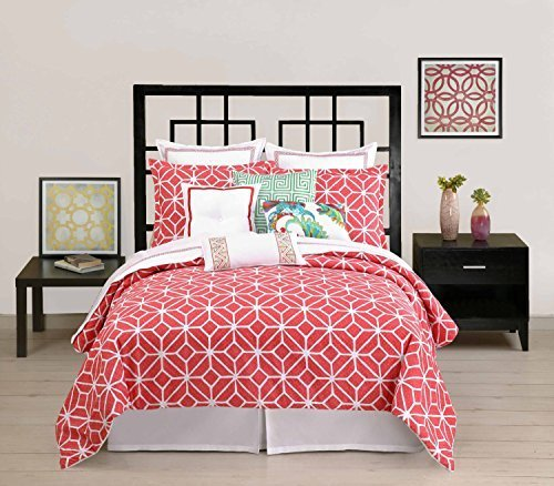 trina-turk-trellis-coral-queen-full-duvet-cover-cotton-by-trina-turk