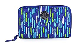 Vera Bradley Women\'s Turn Lock Wallet Katalina Showers Checkbook Wallet