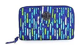 Vera Bradley Women\'s Turn Lock Wallet Katalina Showers Checkbook Wallet