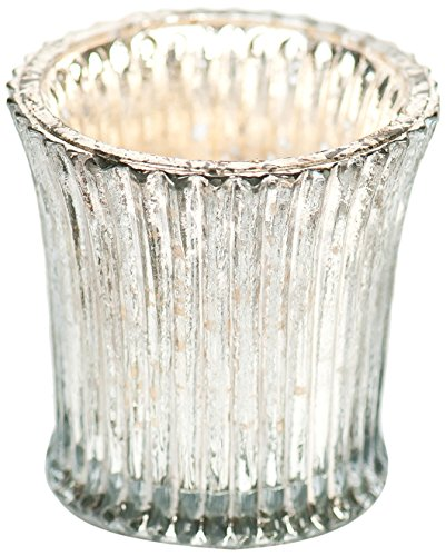 Insideretail Vintage Fluted Glass Votive, 6.5Cm By 6.5Cm, Set Of 3