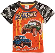 Little Boys Short Sleeve Pure-Color Alphabet Pure Cotton Tees T-Shirts 1-6Y