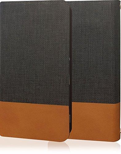 YUI GALAXY S4 SC-04E ギャラクシー ギャラクシーS4 SC04E 高級牛革 本革 レザー ケース 手帳型 薄型 手帳 カバー 手帳型ケース スマホケース フリップケース フリップ ダークグレー ブラウン ツートン バイカラー ツートンカラー SC04E-10000139-10001-1001