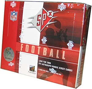 2006 Upper Deck SPX Football Cards Unopened Hobby Box (Randomly inserted autougraph... by Upper Deck