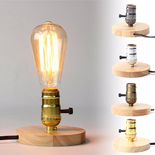 solmore e27 lighting vintage industrial table light single socket edison bulb desk lamp
