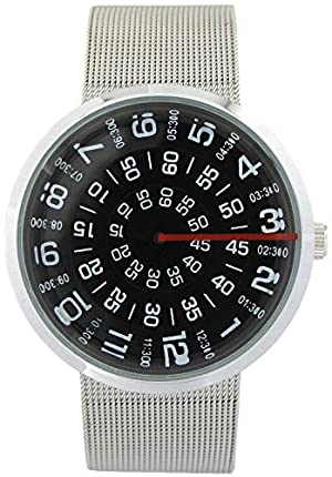 YouYouPifa Unisex Special Design Dial Stainless Steel Quartz Business