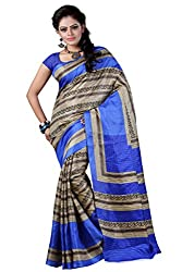 RGR Enterprice Woman's Bhagalpuri Designer Saree (GAYATRI BHAGALPURI_Multi-Coloured_Free Size)