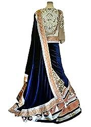 FabTexo International Women's MultiColor Embroidered Net bridal Lehenga with velvet Choli Lehenga Saree (UHFVC_05_Semi_Stitched_Wedding Collection)