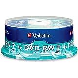 Verbatim 4.7 GB 4X Branded DVD-RW (30pk Spindle) 95179