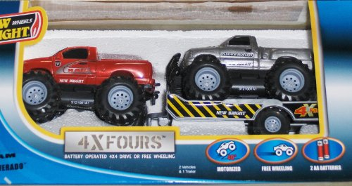 New Bright Off Road Trucks Dodge Ram & Chevy Silverado 4x4 4xFours