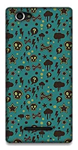 The Racoon Grip Curiosity hard plastic printed back case / cover for Sony Xperia M