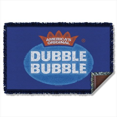 Dubble Bubble Vintage Logo Sublimation Woven Throw