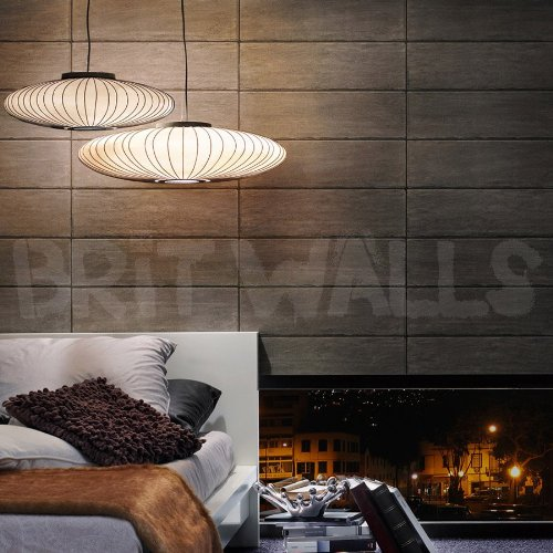 Massimo' Super Realistic Tile/Concrete Effect Wallpaper in Grey (Sample Only)