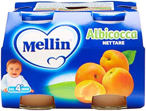 Mellin - Nettare Albicocca, 125ml (Confezione da 4)