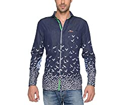 Copperstone Men's Casual Shirt (8903944561762_Blue_Large)