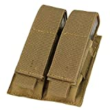Condor MA23-498 Double Pistol Mag Pouch, Coyote Brown (Color: Coyote Brown, Tamaño: One Size)