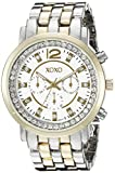 XOXO Women's XO5819 Two-Tone Stainless Steel Watch with Crystals