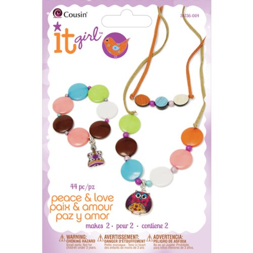 Cousin It Girl 44-Piece Jewelry Kits, Hippie Chick