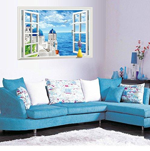 Lifeup 3d  adesivi murali grandi camera da letto soggiorno ...