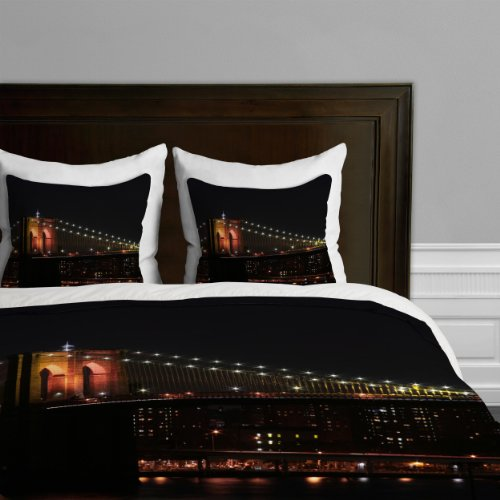 Deny Designs Leonidas Oxby Brooklyn Bridge 2 Duvet Cover, King back-916030