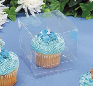 Individual Clear Cupcake Box - 12 pack