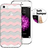 iPhone 5 / 5S Case,ESR Protective PC Hard Back Cover Case with Printed Pattern + TPU Peripheral Bumper for iPhone 5 / 5S (Pink Wave)