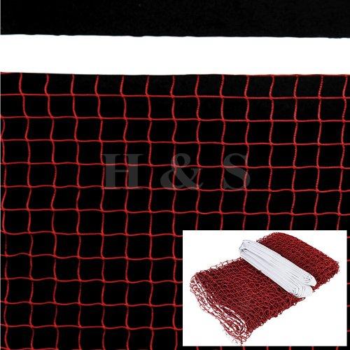 H&S® Professional 20' Standard Training Badminton Net Outdoor Garden Sport