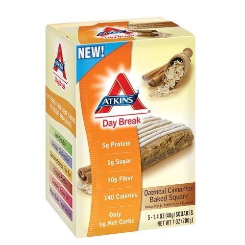 Day Break Oatmeal Cinnamon Baked Square 5 Bars - 1.4 Oz, 2 Pack