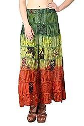 Shararat Women's Skirt (9136_Multi Color_Free Size)