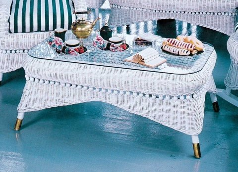 Victorian Wicker Coffee Table