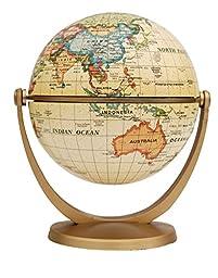 Estamico Political Antique Ocean Swivel and Tilt Globe, 4 Inches