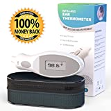 BEST Ear Thermometer Most ACCURATE - *5* STAR Ear Thermometer, Digital for Baby, Adults and Kids. Pediatrician Approved - Uses SAFE HARMLESS Infra red Laser - 100% LIFETIME GUARANTEE! - Excellent for ALL the Family - Takes Temperature In ONE SECOND for I
